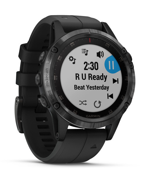 fēnix® 5 Plus Sapphire, Black with Black Band