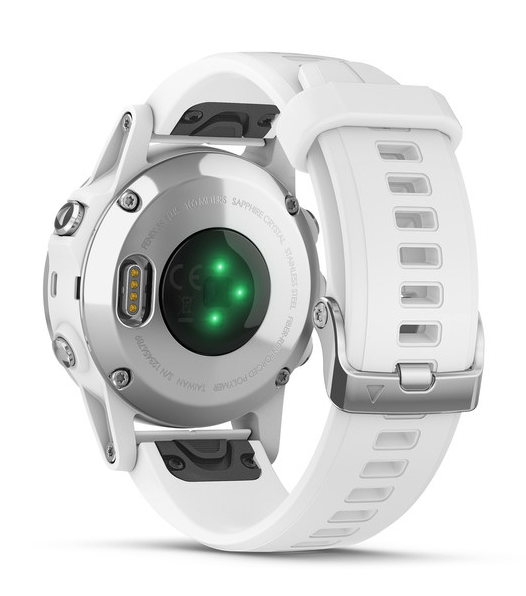 fēnix® 5S Plus Sapphire, White with Carrera White Band