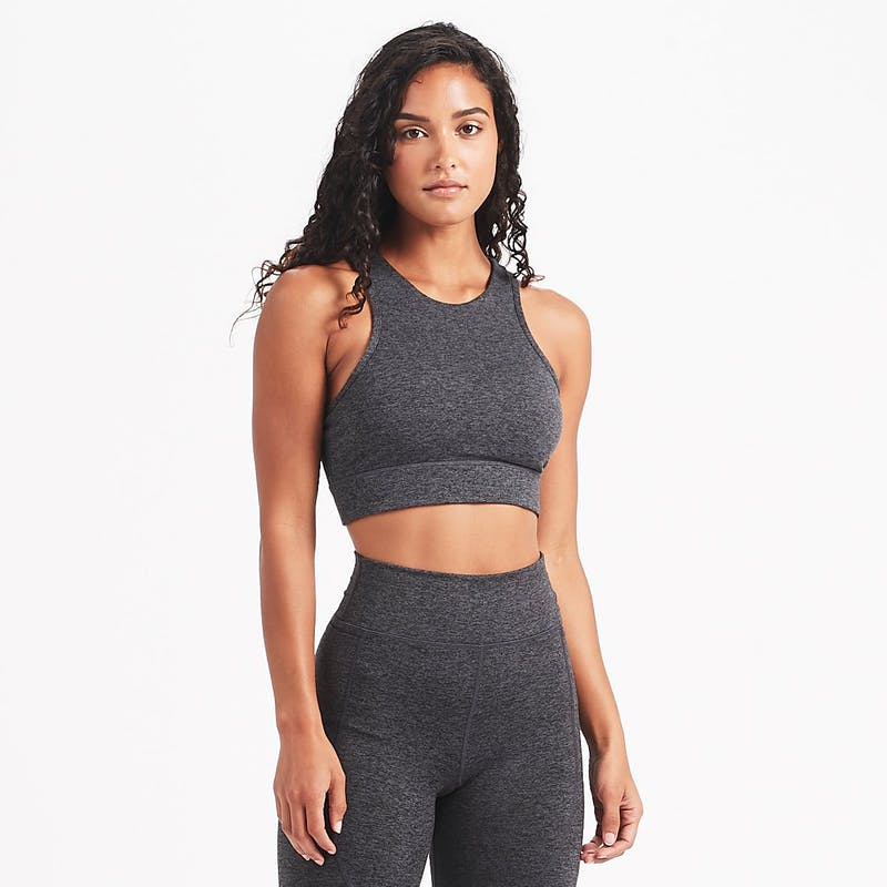 Vuori Juno Sports Bra - Charcoal Heather
