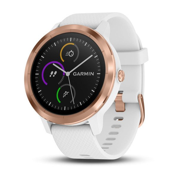 Garmin vívoactive® 3 White with Rose Gold Hardware