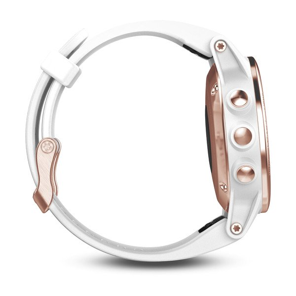 fēnix® 5S Rose Gold Sapphire w/White Band