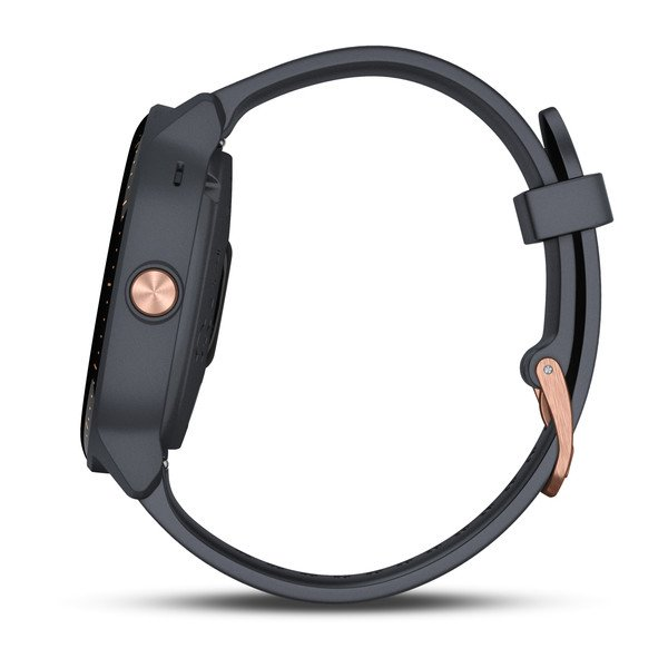 Garmin vívoactive® 3 Music Granite Blue with Rose Gold Hardware