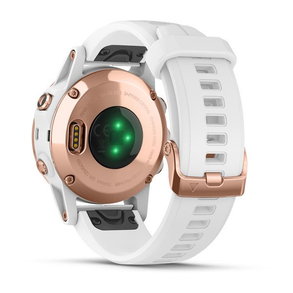 fēnix® 5S Plus Sapphire Rose Gold w/White Band