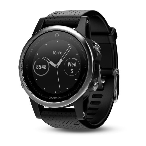 fēnix® 5S Silver with Black Band